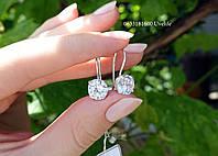 Серебряные серьги с французской застежкой, фото 1