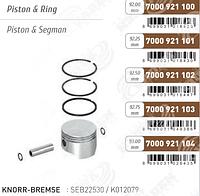 Поршень компрессора с кольцами MB OM472     51541196008