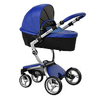 Коляска Mima Xari royal blue шасси aluminium strarter pack denim blue