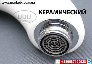 Керамічний змішувач з кераміки для умивальника раковини кран UDU, фото 3