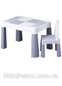 Столик и стульчик Tega Baby MULTIFUN (стол+ стул) цвет серый