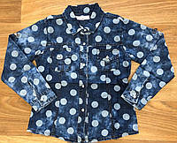 Рубашки джинсовые для девочек оптом Seagull 134-164 см. № CSQ-89068