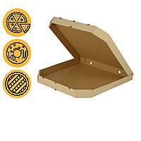 Упаковка для пиццы 500*500*45 мм большая квадратная со скошенными углами заготовка в розницу
