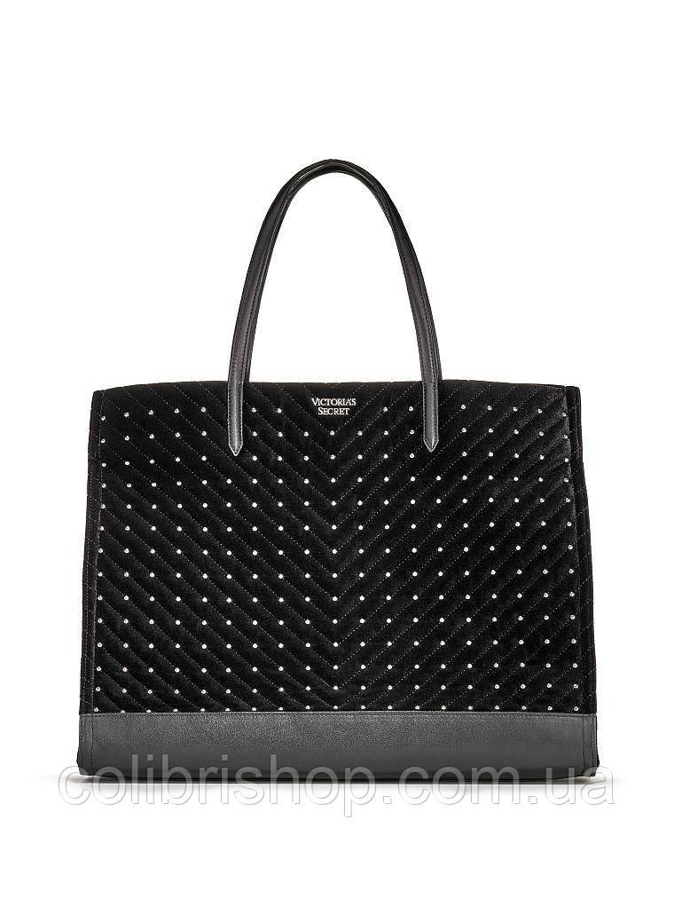 Стильная бархатная  сумка Studded Tote от Victoria's Secret