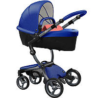 Коляска Mima Xari royal blue шасси graphite grey strarter pack coral red