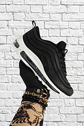 Женские кроссовки Nike Air Max 97 Swarovski Black White (черные)