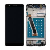 Дисплей Huawei P Smart FIG-LX1, FIG-LX2, FIG-LX3, FIG-LA1, Enjoy 7S с сенсором (тачскрином) и рамкой черный