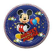 "Тарілки паперові одноразові ""Міккі Маус, Mickey mouse"" 10 шт"