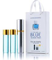 Мини-парфюм с феромонами мужской ANTONIO BANDERAS Blue Seduction 3х15 мл