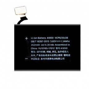 Акумулятор Apple Watch 3 LTE 42mm A1850, 352 mAh, фото 2
