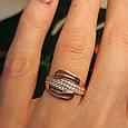 Золотое кольцо с фианитами - Женское золотое кольцо с камнями, фото 4