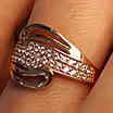 Золотое кольцо с фианитами - Женское золотое кольцо с камнями, фото 2