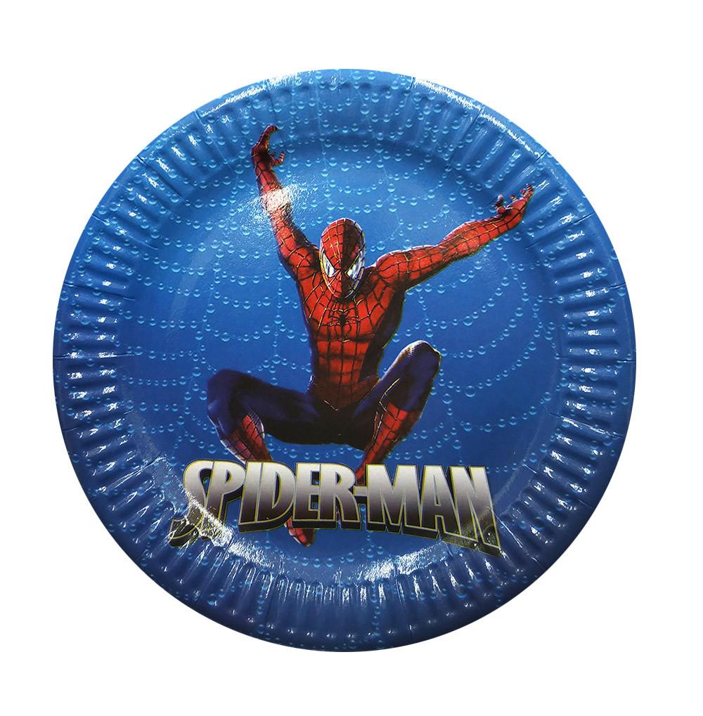 "Набор тарелок 10 штук ""Человек Паук"" размер 180 мм"