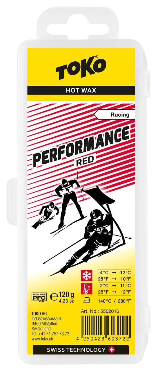 Віск Toko Performance Hot Wax Red 120 g