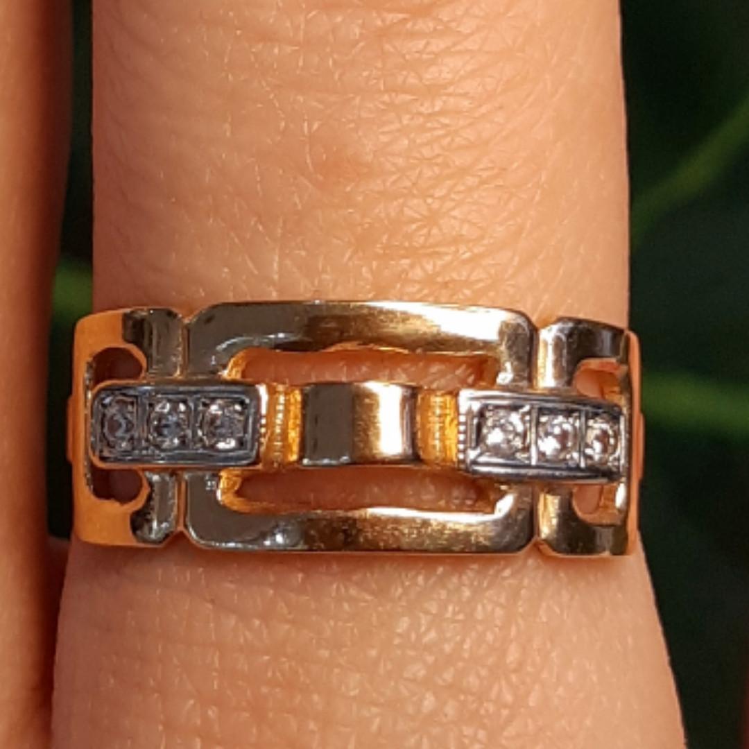 Золотое кольцо женское - Женское золотое кольцо Картье