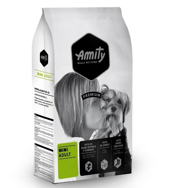 Корм AMITY Mini Adult, для дорослих собак дрібних порід,з куркою та ягням, 18 кг