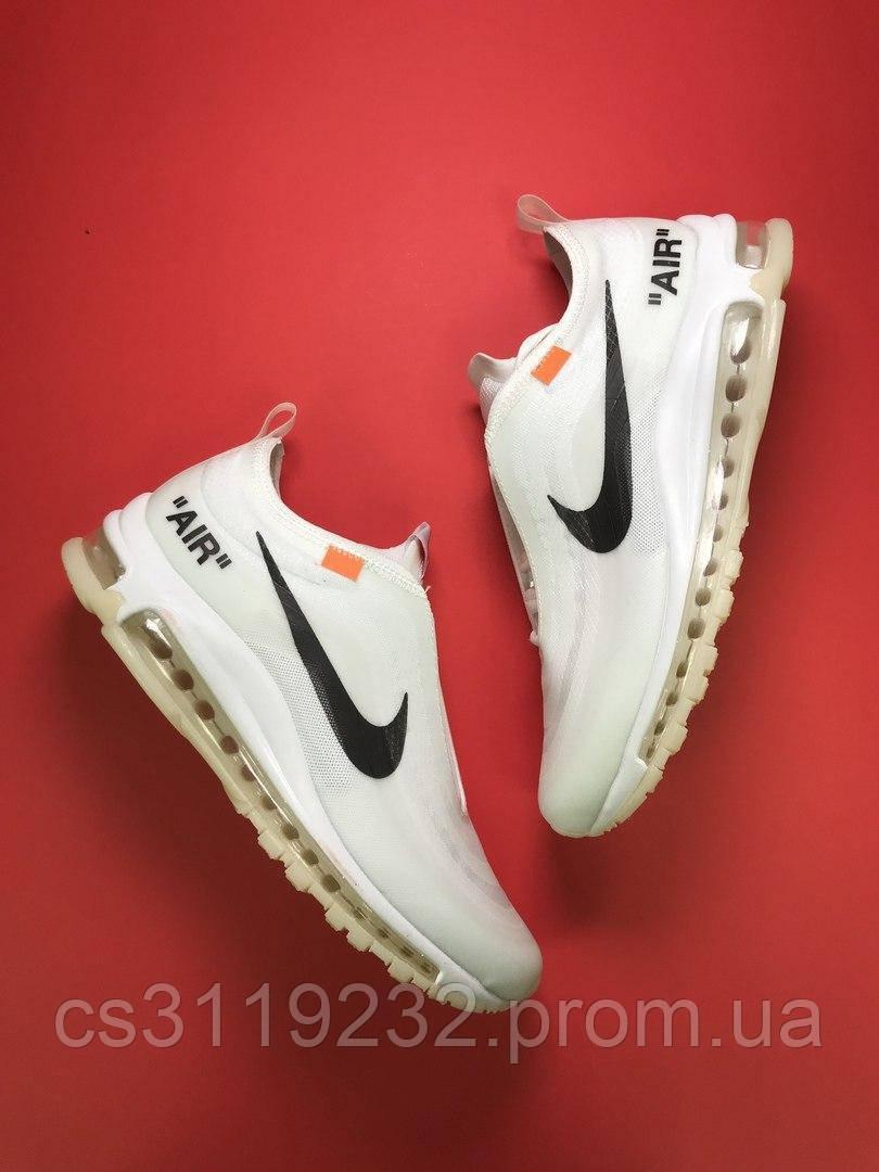 Мужские кроссовки Nike Air Max 97 OFF-White (белые)