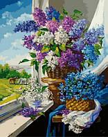 Картина по номерам Майские цветы у окна, 40x50 см, Brushme (Брашми), подарочная упаковка (GX24785)