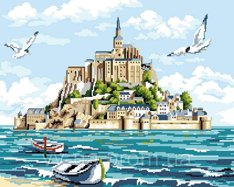 Картина по номерам Мон-Сен-Мишель, 40x50 см, подарочная упаковка, Brushme (Брашми)