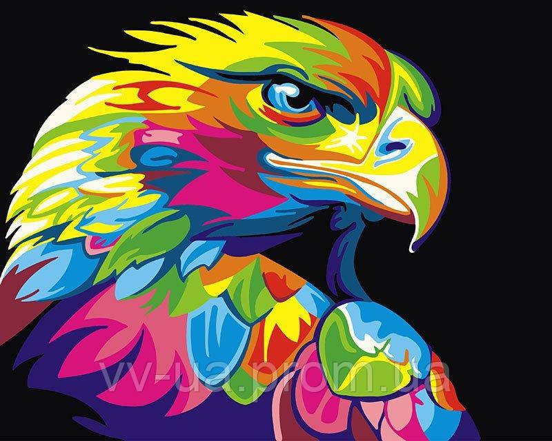 Картина по номерам Радужный орел, 40x50 см, подарочная упаковка, Brushme (Брашми)