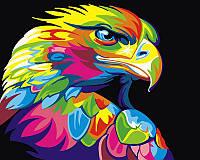 Картина по номерам Радужный орел, 40x50 см, подарочная упаковка, Brushme (Брашми), фото 1