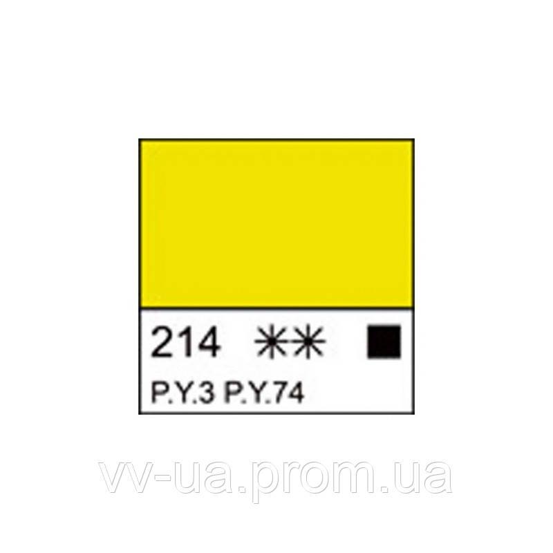 Краска акриловая Ладога, Лимонная, 46 мл, Невская палитра ЗХК (351390)