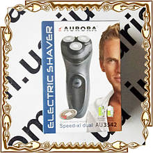 Электробритва аккумуляторная 2 лезвия, триммер Aurora № 3542