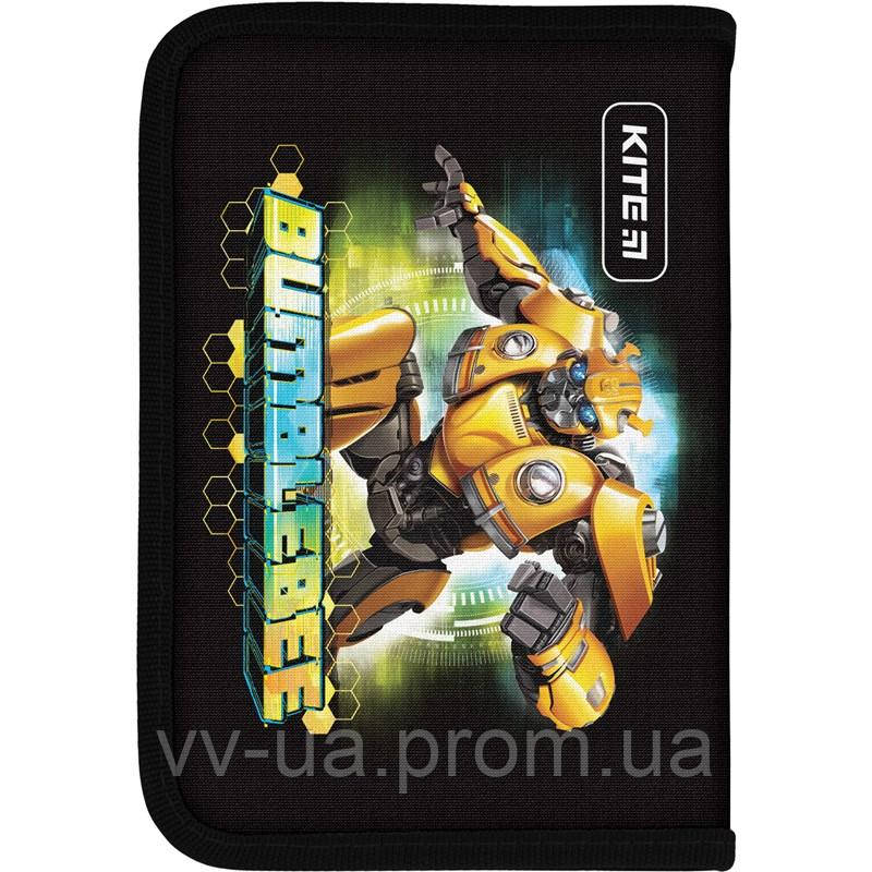Пенал для школы Kite Education Transformers BumbleBee Movie TF19-621-1, 1 отделение, 1 отворот
