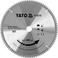 Диск пильный победитовый по дереву 305x30x3.2x2.2 мм (96 зубьев) YATO YT-60785 (Польша)