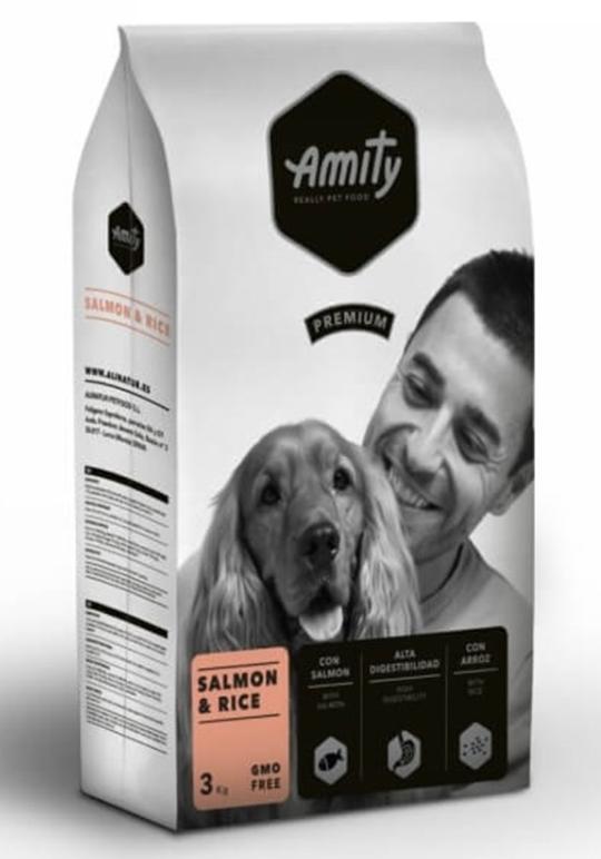 Корм AMITY Salmon&Rice, для дорослих собак гіпоалергенний, з лососем і рисом, 3 кг