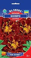Бархатцы Болеро махровые засухоустойчивые компактные шарообразные махагоновой окраски, упаковка 3 г