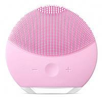 Улучшенная электрическая косметическая щетка для очищения лица Forever Lina Mini 2 Pink