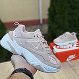 Женские кроссовки Nike M2K Tekno пудровые 36-40р.. Живое фото. Реплика, фото 2