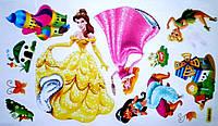 Наклейка виниловая Принцессы Дисней 3D декор