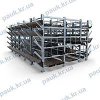 Стелаж для зберігання довгомірного металопрокату
