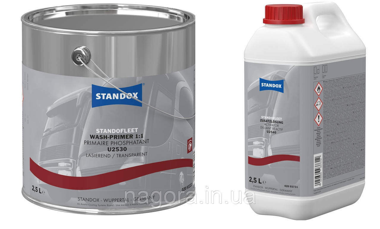 Пасивує травящая ґрунтовка Standofleet Wash Primer U2530, комплект з затверджувачем 1:1 (1кг)