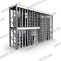 Модульный стеллаж для металлопроката PRM-2, складской стеллаж под металлопрокат