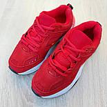 Женские кроссовки Nike M2K Tekno красные 36-40р.. Живое фото. Реплика, фото 4