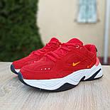 Женские кроссовки Nike M2K Tekno красные 36-40р.. Живое фото. Реплика, фото 6
