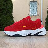 Женские кроссовки Nike M2K Tekno красные 36-40р.. Живое фото. Реплика, фото 7