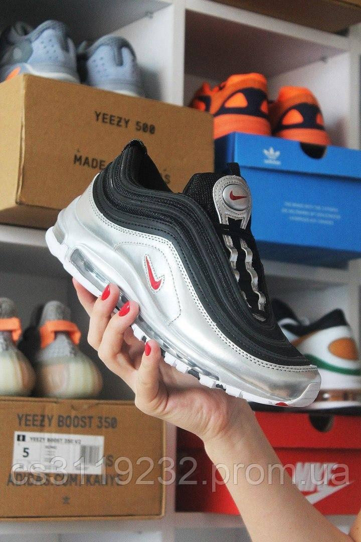 Мужские кроссовки Nike  Air Max 97 Black Silver (черный/серебро)