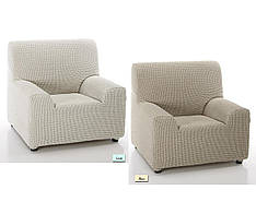 Чехол на Кресло натяжной Сада Cosa Textile Бежевый Лен