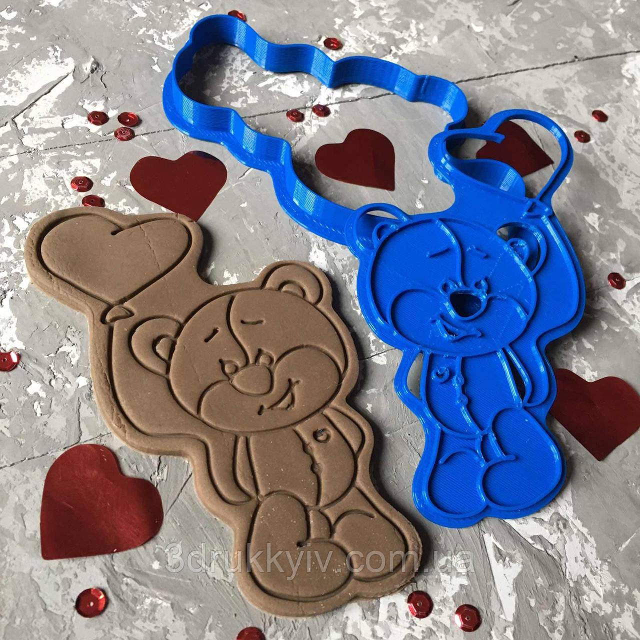 """Вирубка зі штампом """"Ведмедик #2"""" / Вырубка - формочка для пряников """"Медвежонок #2"""""""