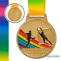 Спортивная медаль Футбол C-0342 (металл, 65 мм, 38g золото, серебро, бронза)