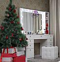 Стол для визажиста, гримерный столик, зеркало с подсветкой, белый, фото 4