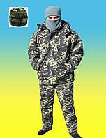 Комплект армейский зимний бушлат на меху + утепленные штаны на флисе + шапка.