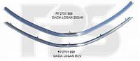 Накладка решетки радиатора нижняя Dacia Logan -13 хромированная (FPS)