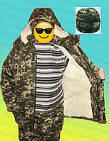 Бушлат армейский зимний на овчине +шапка
