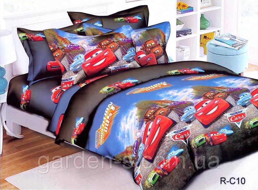 Комплект постельного белья Тачки ТМ TAG 1,5 спальный комплект Наволочка 70х70 см., Стандартный 150х215 см.