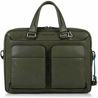 Деловая сумка Piquadro (Пиквадро) Black Square/Green CA2849B3_VE, фото 1